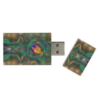 Pen Drive Retrato psicadélico do lince do fluxo da cor