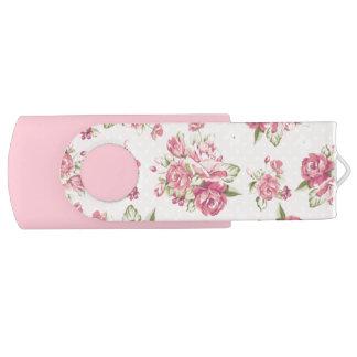 Pen Drive Rosas cor-de-rosa femininos bonitos
