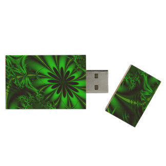Pen Drive Selva verde abstrata do Fractal