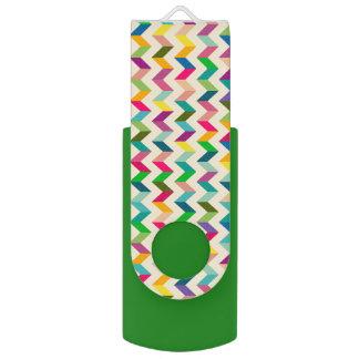 Pen Drive Usb colorido do verde da viga