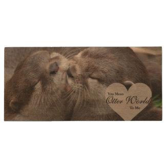 Pen Drive Você significa-me o mundo da lontra beijo do amor