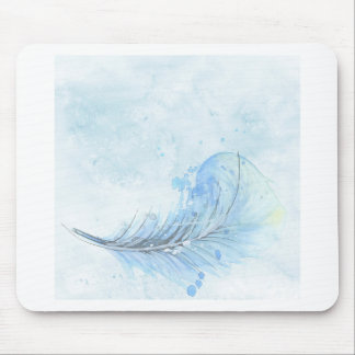 Pena azul do Watercolour Mouse Pad