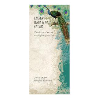 Pena barroco do pavão do vintage da tabela de preç panfletos informativos