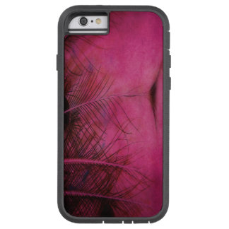Pena da avestruz capa tough xtreme para iPhone 6