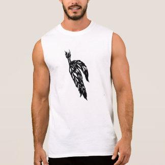 Pena de pássaro camisas sem manga