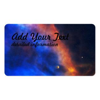 Pena do gás de uma estrela recém-nascida na cartão de visita