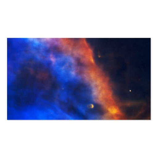 Pena do gás de uma estrela recém-nascida na nebulo cartao de visita