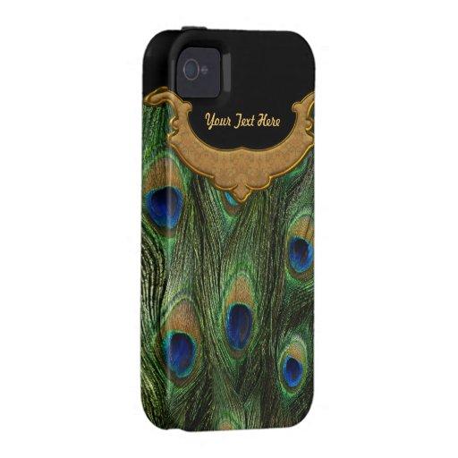 Pena do pavão - case mate capa para iPhone 4