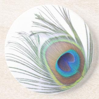 Pena do pavão porta copos de arenito