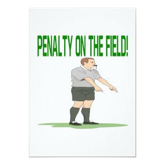 Pena em The Field Convite 12.7 X 17.78cm