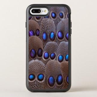 Pena manchada azul do faisão capa para iPhone 8 plus/7 plus OtterBox symmetry