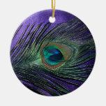 Pena roxa de seda do pavão ornamentos