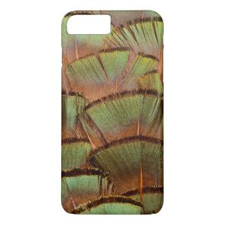 Pena ventilada verde do faisão capa iPhone 8 plus/7 plus