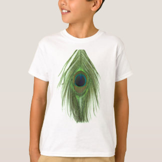 Pena verde D do pavão Camiseta