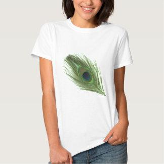 Pena verde D do pavão Camisetas