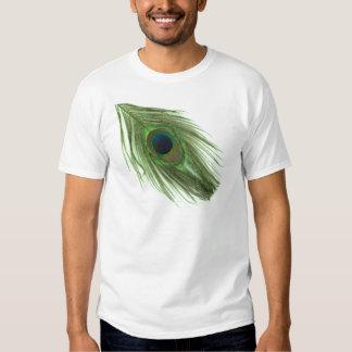 Pena verde do pavão t-shirts