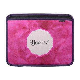 Penas cor-de-rosa bonito bolsa de MacBook