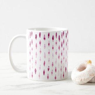 Penas da ameixa caneca de café