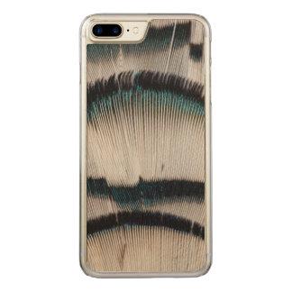 Penas de prata do faisão capa iPhone 8 plus/ 7 plus carved