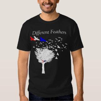 Penas diferentes camisetas