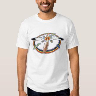 Penas do arco-íris camiseta