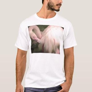 penas do flamingo camiseta
