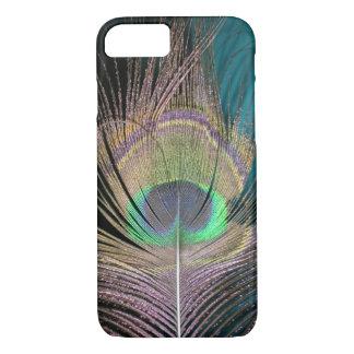 Penas do pavão no preto e na turquesa capa iPhone 7