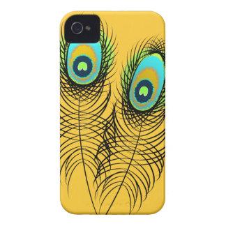 Penas lunáticas do pavão capa para iPhone