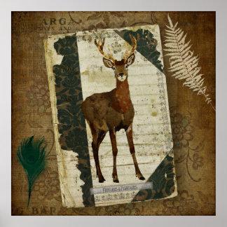 Penas & poster da arte do jornal dos Antlers