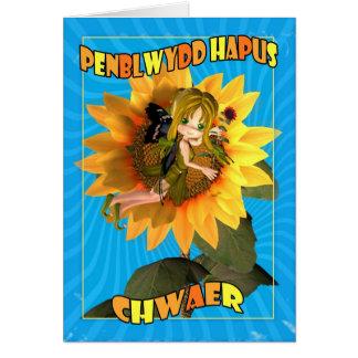 Penblwydd Hapus Chwaer - irmã do feliz aniversario Cartão Comemorativo