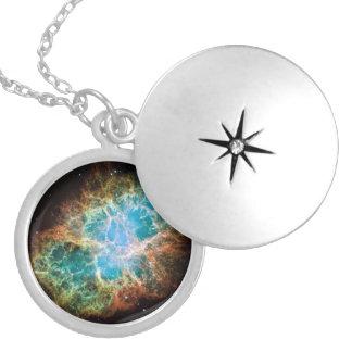 Pendente cósmico da nebulosa de caranguejo locket