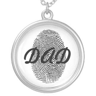 Pendente da lembrança do dia dos pais da impressão colar banhado a prata