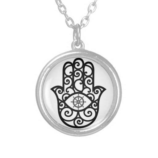 Pendente de Abhaya-cariya - mão do encanto de Colar Personalizado