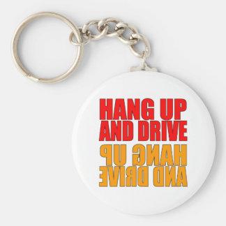Pendure acima e conduza o chaveiro do slogan do ca