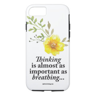 Pensamento - capa de telefone introvertida