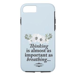 Pensamento - capa de telefone introvertida floral