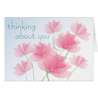 Pensamento de você - cartão