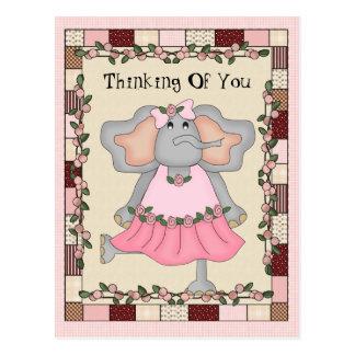 Pensamento de você cartão