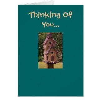 Pensamento de você… Cartão