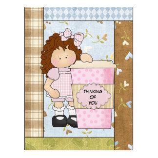 Cartão Postal Pensamento de você cartão