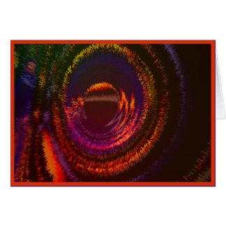 Pensamento de você cartão abstrato da laranja
