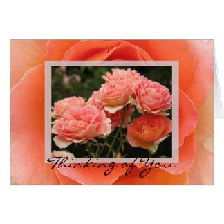 Pensamento de você cartão comemorativo