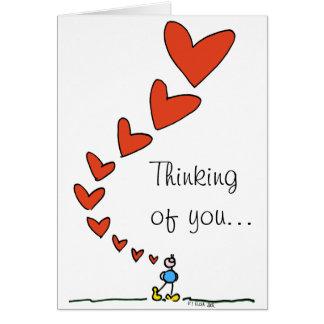 Pensamento de você… Cartão da BOBA