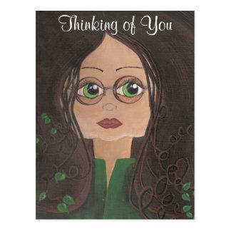 Pensamento de você cartão da hera de Cutie do