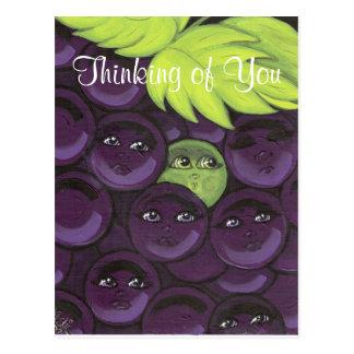 Pensamento de você cartão das uvas