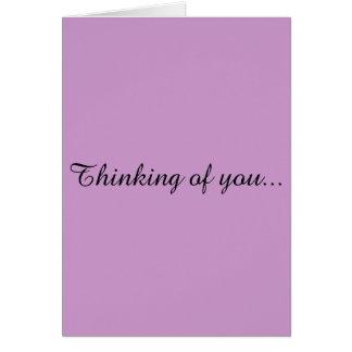 Pensamento de você cartão de cumprimento