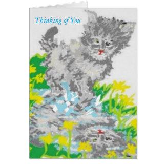 Pensamento de você cartão de /Greeting