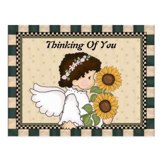 Pensamento de você cartão do anjo