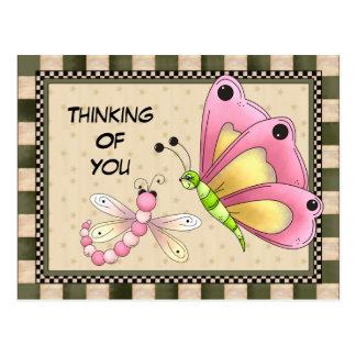 Pensamento de você cartão do cumprimento