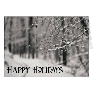 Pensamento de você cartão do feriado